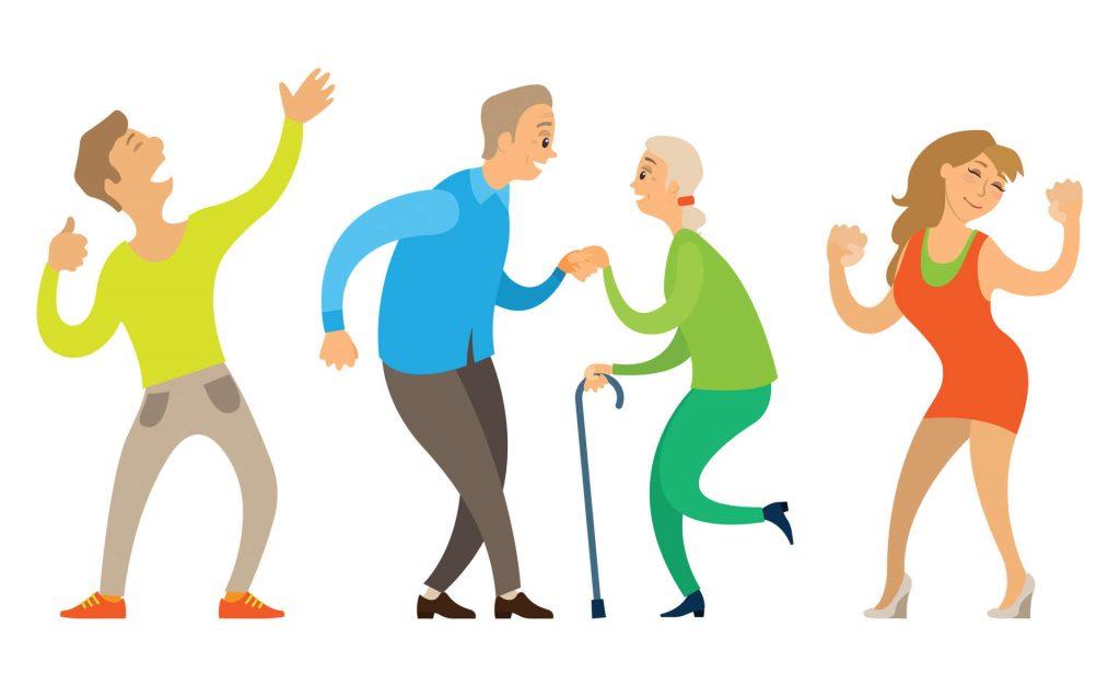Dansande människor